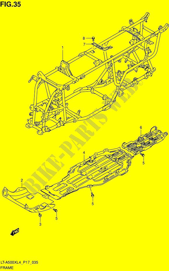RAHMEN VERKLEIDUNG RAHMEN LT A500X L4 LT A500XZ L4 P17 2014 KINGQUAD ...