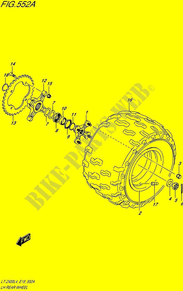 LINKS HAND HINTERRAD DAEMPFER BREMSEN RAD LT Z400 L4 E19 2014 ...
