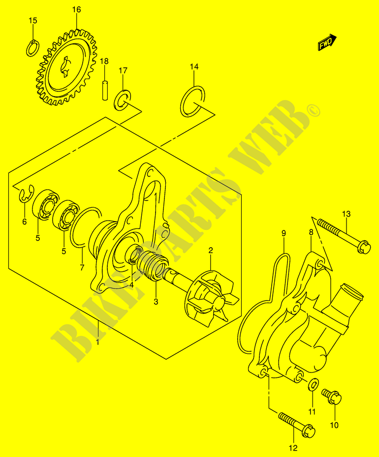 wasser pumpe dr z400ek2 e1 k2 2002 dr z400ek2 e1. Black Bedroom Furniture Sets. Home Design Ideas