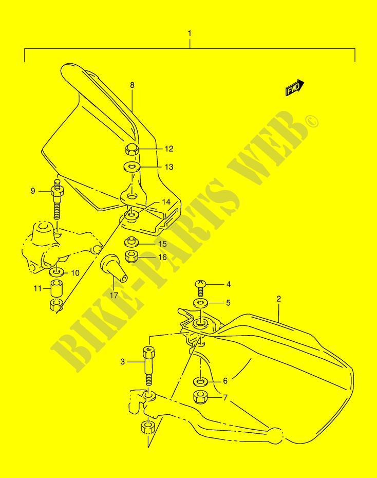 FINGER VERKLEIDUNG OPTION MODEL X Y VERKLEIDUNG RAHMEN DR125SEV E4 ...