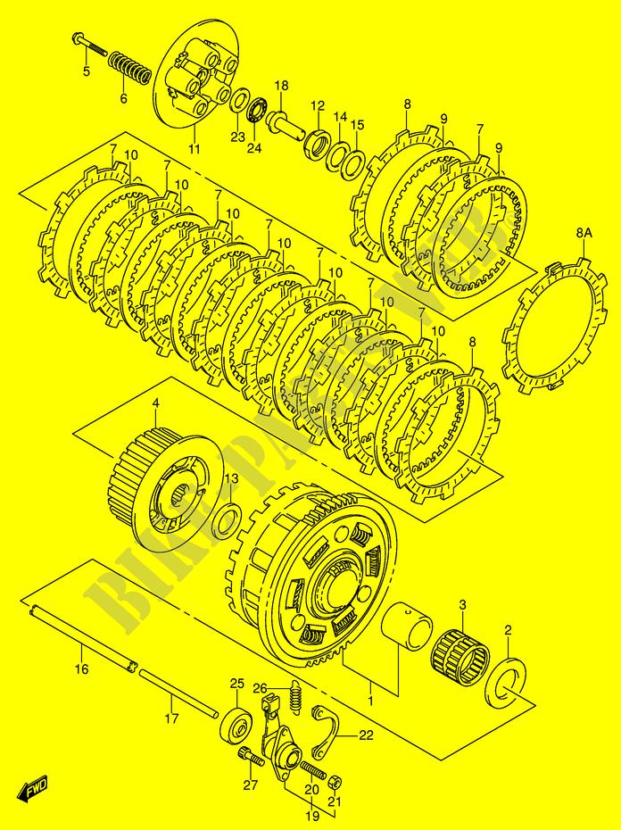 TRW Reparatursatz Kupplung Suzuki GSX 750 F 98-06