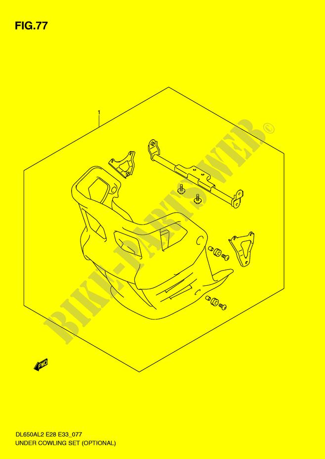 UNTER MOTORHAUBE OPTIONAL VERKLEIDUNG RAHMEN DL650AL2 E28 2012 V ...