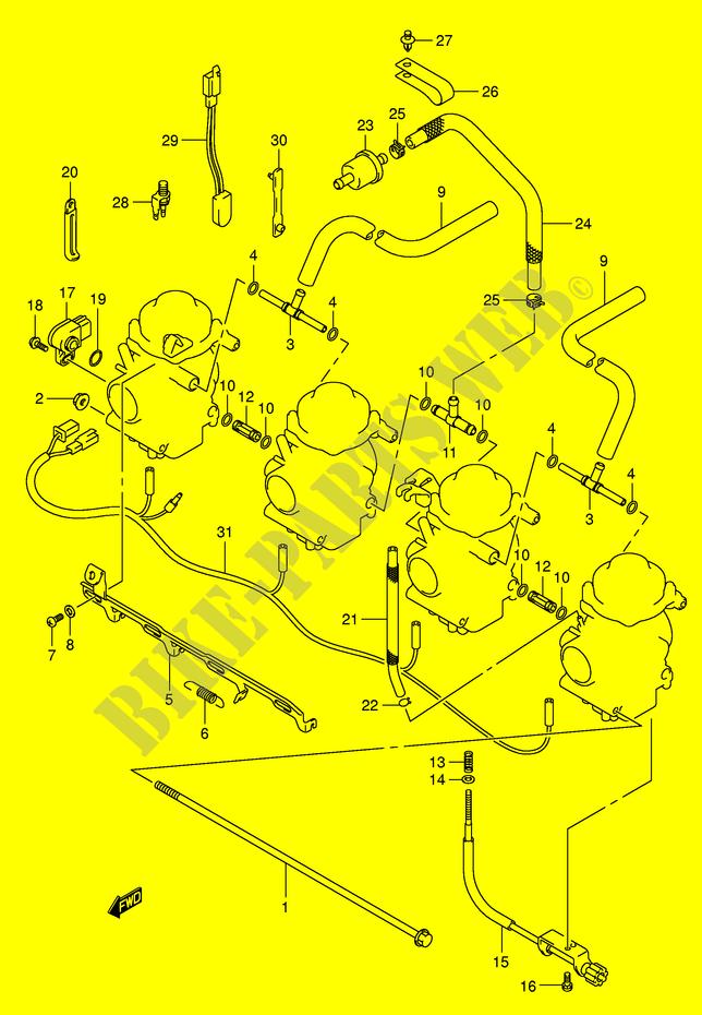 VERGASER TEILE MOTOR GETRIEBE GSF650SK5 E2 2005 BANDIT 650 Motorrad ...