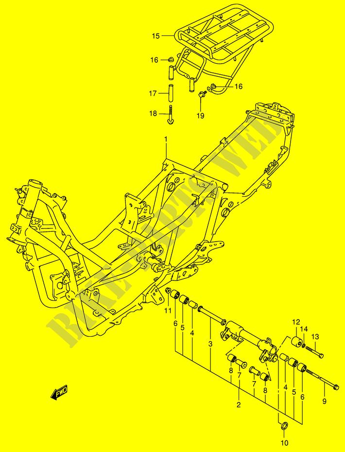 RAHMEN MODEL X Y VERKLEIDUNG RAHMEN AN400RY E2 2000 BURGMAN 400 ...