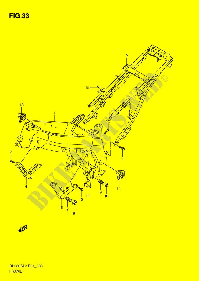 RAHMEN ABDECKUNG VERKLEIDUNG RAHMEN DL650AL2 E24 2012 V STROM 650 ...