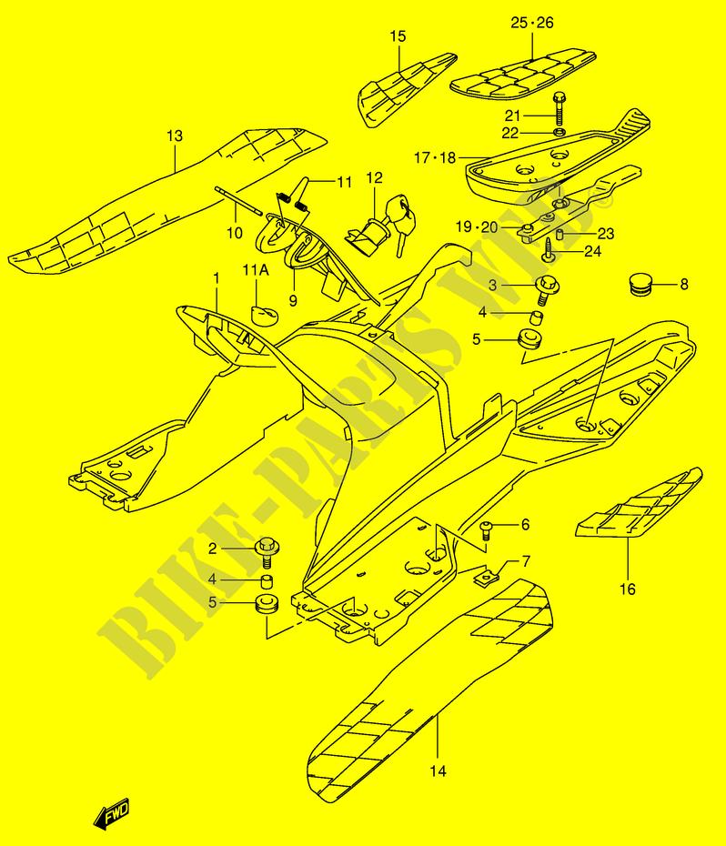 HINTERE BEINVERKLEIDUNG MODEL X VERKLEIDUNG RAHMEN AN400K2 E2 2002 ...