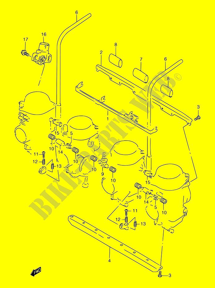 VERGASER TEILE MOTOR GETRIEBE GSF1200SV GSF1200SAV 1997 BANDIT 1200 ...